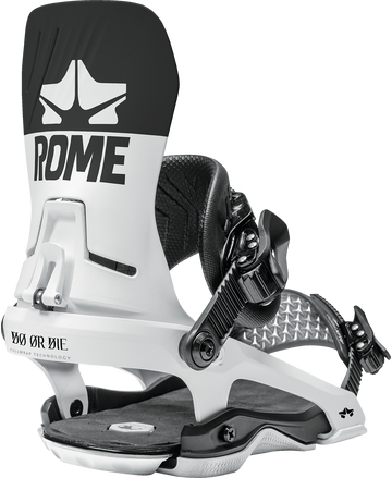 2021 Rome D.O.D. Snowboard Binding in Black and White