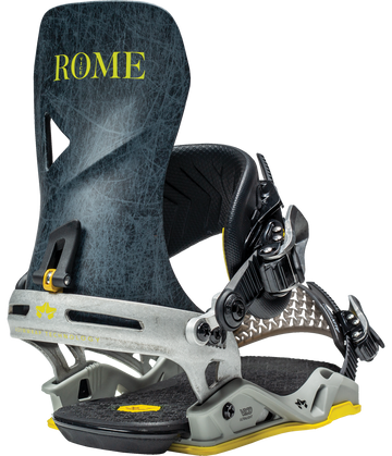 2021 Rome Vice Snowboard Binding in Grey Lines