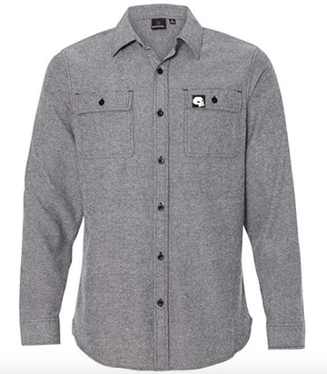Milosport Bonneville Womens Flannel in Woven Grey