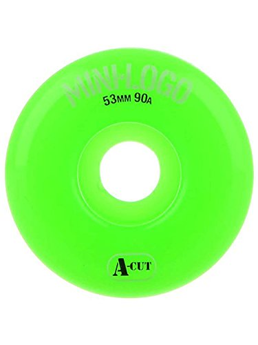 Mini Logo Hybrid A-Cut 53mm Skate Wheels in 90a Green