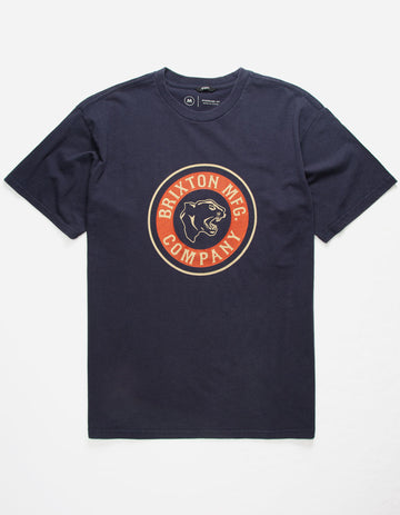 Brixton Forte Short Sleeve Standard Tee in Washed Navy