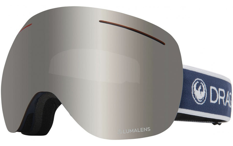 2020 Dragon X1 Snow Goggles in Designer with LL Silver Ion and Flash Blue Lens