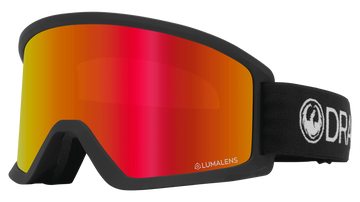 2021 Dragon Black DX3 OTG Snow Goggle with a Lumalens Red Ion Lens