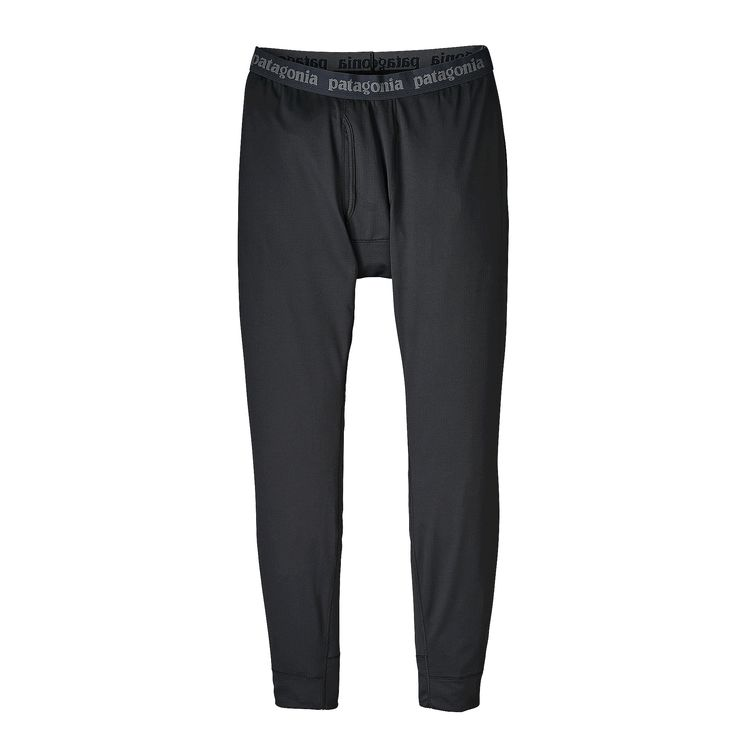 2020 Patagonia Mens Capilene Mid Weight Bottoms in Black