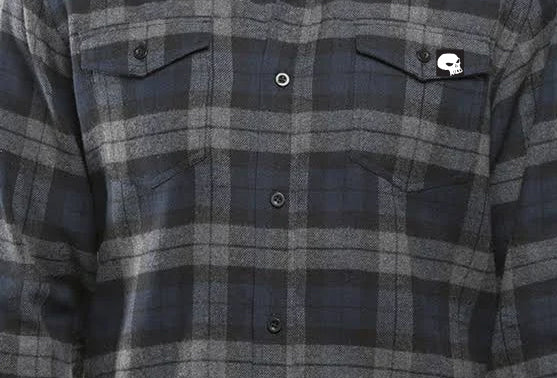 Milosport Bonneville Flannel in Black and Blue Plaid