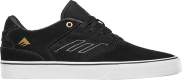 Emerica The Low Vulc Skate Shoe in Black and Gold and White