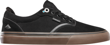 Emerica Dickson Pro Shoe in Black and Gum