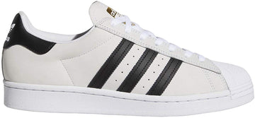 Adidas Superstar ADV Skate Shoe in White Core Black and Gold Metallic