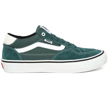 Vans Rowan Pro Skate Shoe in Pine and White