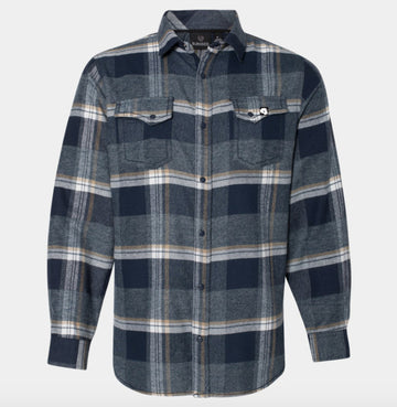 Milosport Bonneville Flannel in Blue Plaid