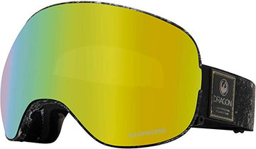 2020 Dragon X2 Snow Goggles in Lunar with LL Gold Ion and Amber Lens