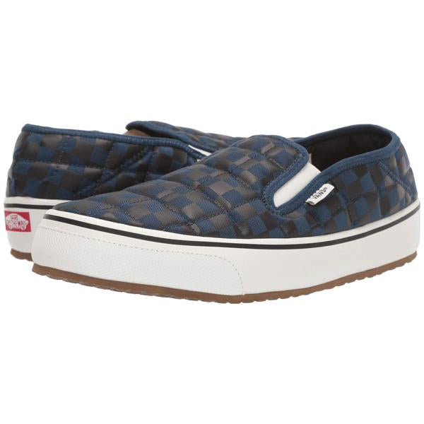 Vans Slip-Er shoe in Checkerboard and Gibraltar Sea