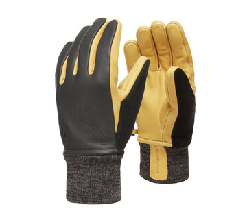 2020 Black Diamond Dirt Bag Gloves in Black and Tan
