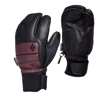 2021 Black Diamond Womens Spark Finger Gloves in Bordeaux