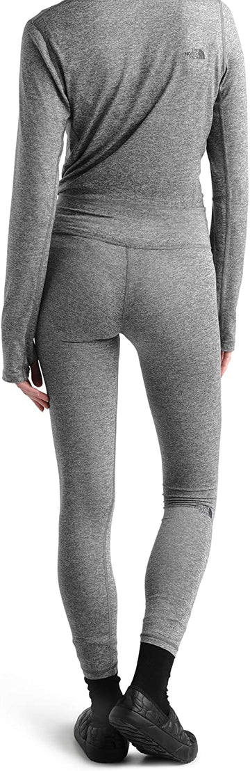 2021 The North Face Womens Warm Poly Base Layer Pant in Grey