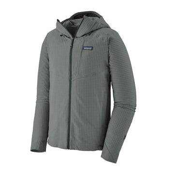 2020 Patagonia Mens R1 TechFace Hoodie in Cave Grey