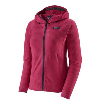 2020 Patagonia Womens R1 TechFace Snow Hoody in Craft Pink