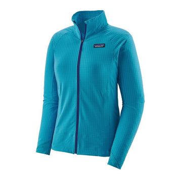 2020 Patagonia Womens R1 TechFace Snow Jacket in Curacao Blue