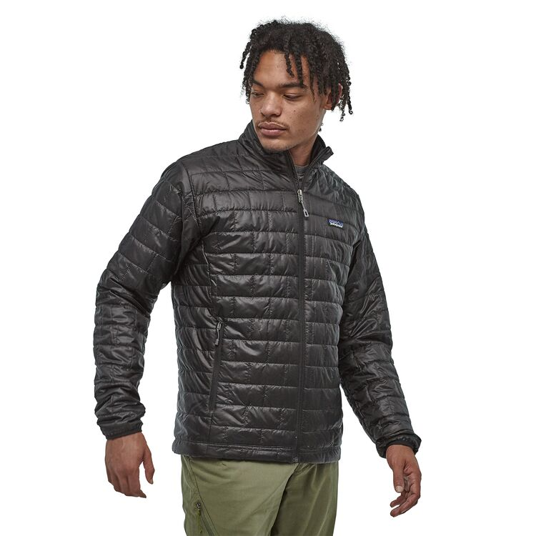 2020 Patagonia Mens Nano Puff Hoodless Snow Jacket in Forge Grey