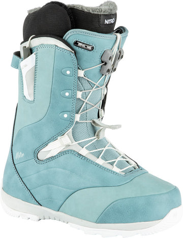 2022 Nitro Crown Tls Womens Snowboard Boots in Blue and White