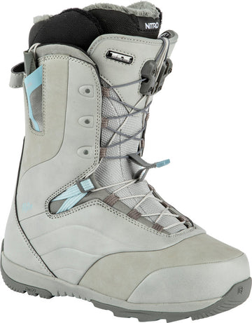 2022 Nitro Crown Tls Womens Snowboard Boots in Grey and Blue