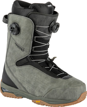2022 Nitro Chase Dual Boa Snowboard Boots in Pewter and Black