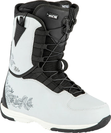 2022 Nitro Futura Tls Womens Snowboard Boots in Ice and Black