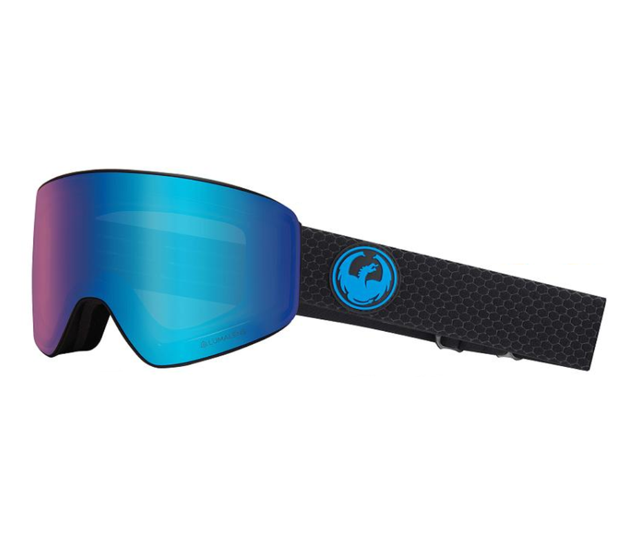 2020 Dragon PXV Snow Goggles in Split with LL Blue Ion and Amber Lens