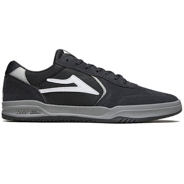 Lakai Atlantic Skate Shoe in Charcoal and Light Grey Suede