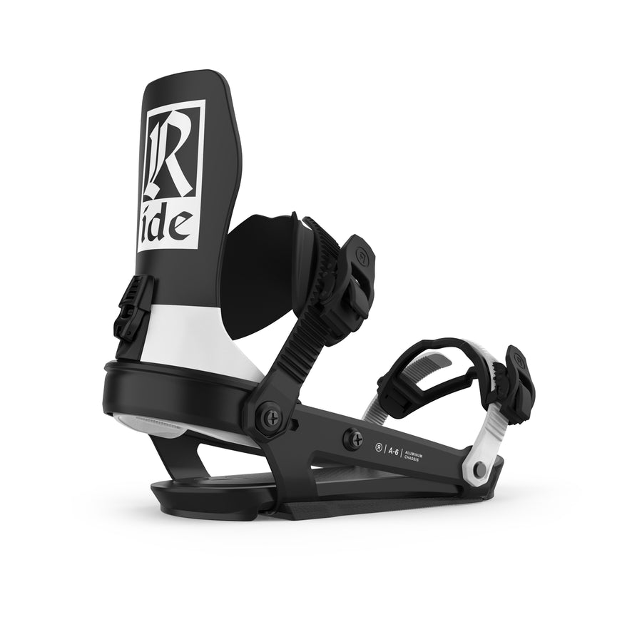 2021 Ride A-6 Snowboard Binding in Classic Black