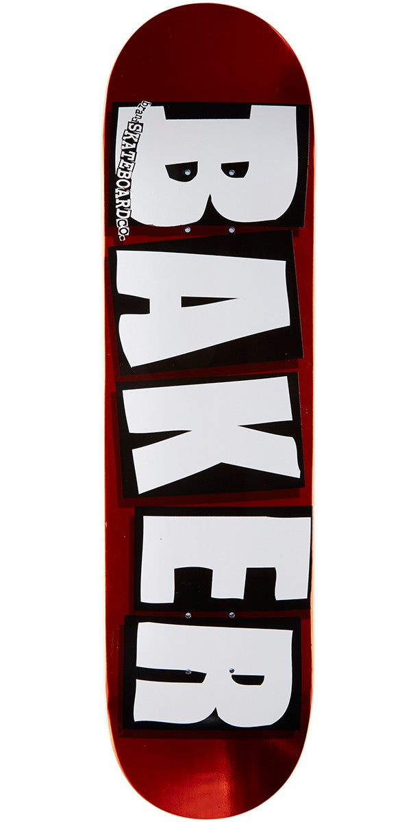 Baker Brand Logo Red Foil Skateboard Deck in 8.25''