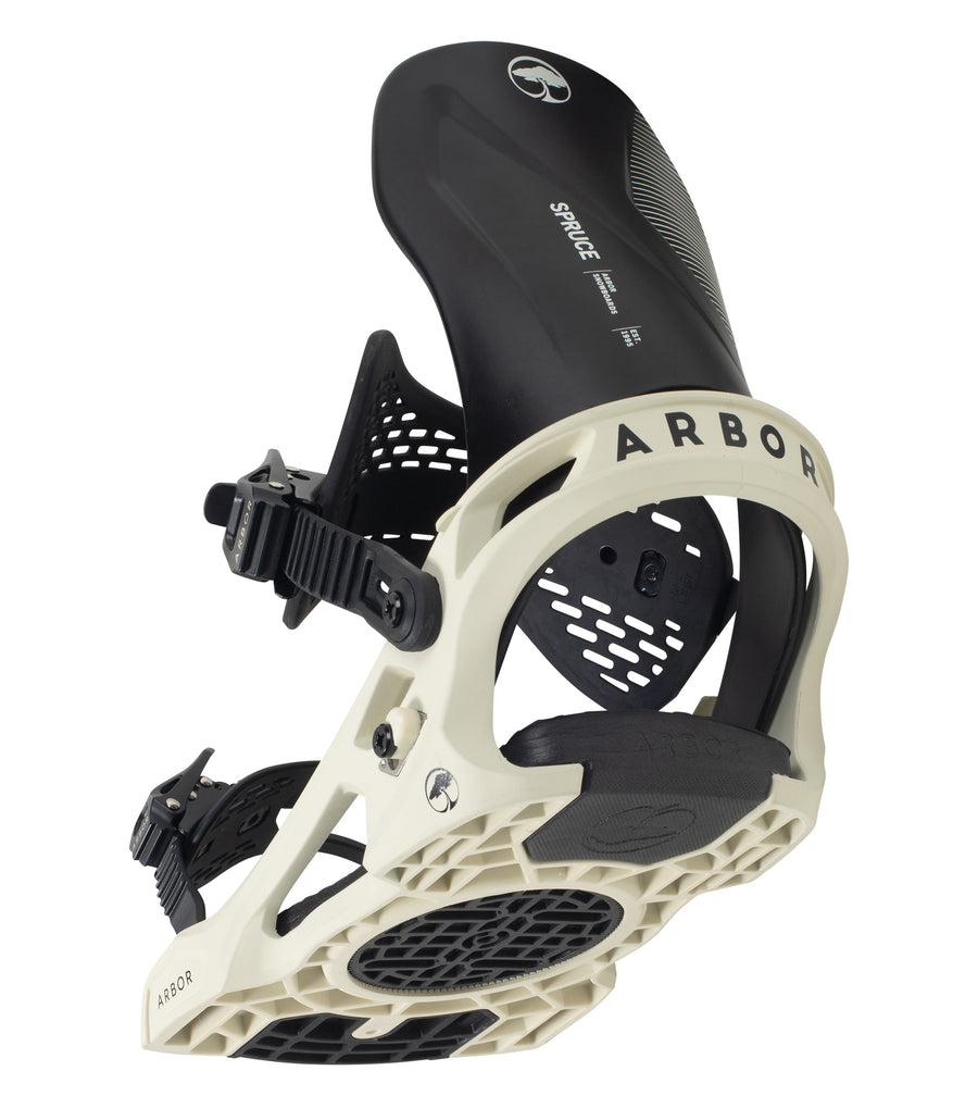 2021 Arbor Spruce Mens Snowboard Binding in White