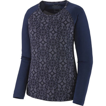 2020 Patagonia Women's Mid Weight Capilene Crew in Arctic Ox Geo Navy