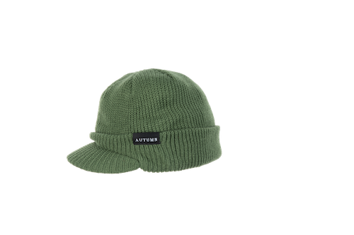 2021 Autumn Visor Beanie in Army Green