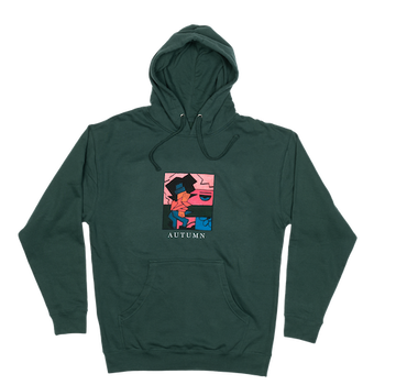 2021 Autumn Talkin Hoodie in Forest Green