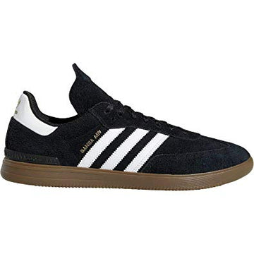 Adidas Samba ADV Skate Shoe in Black White and Gum