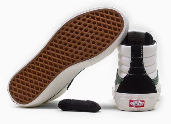 Vans Sk8 Hi Pro Shoe in Black and Alpine