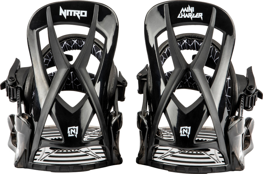 2021 Nitro Charger Micro Kids Snowboard Binding in Black