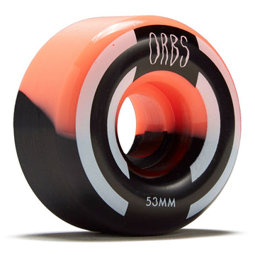 Orbs Apparitions Splits Coral and Black Skate Wheel 99a in 53mm