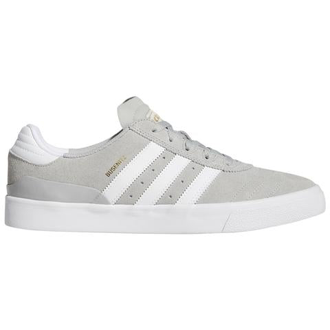 Adidas Busenitz Vulc Skate Shoe in Grey White and Gold