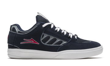 Lakai Carroll Skate Shoe in Navy Suede