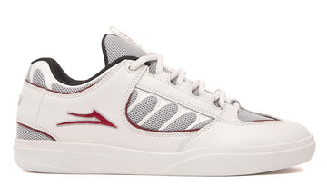 Lakai Carroll Skate Shoe in White Leather