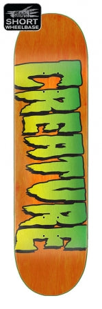 Creature Logo Stumps Skate Deck in 8.8