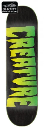 Creature Logo Stumps Skate Deck in 9