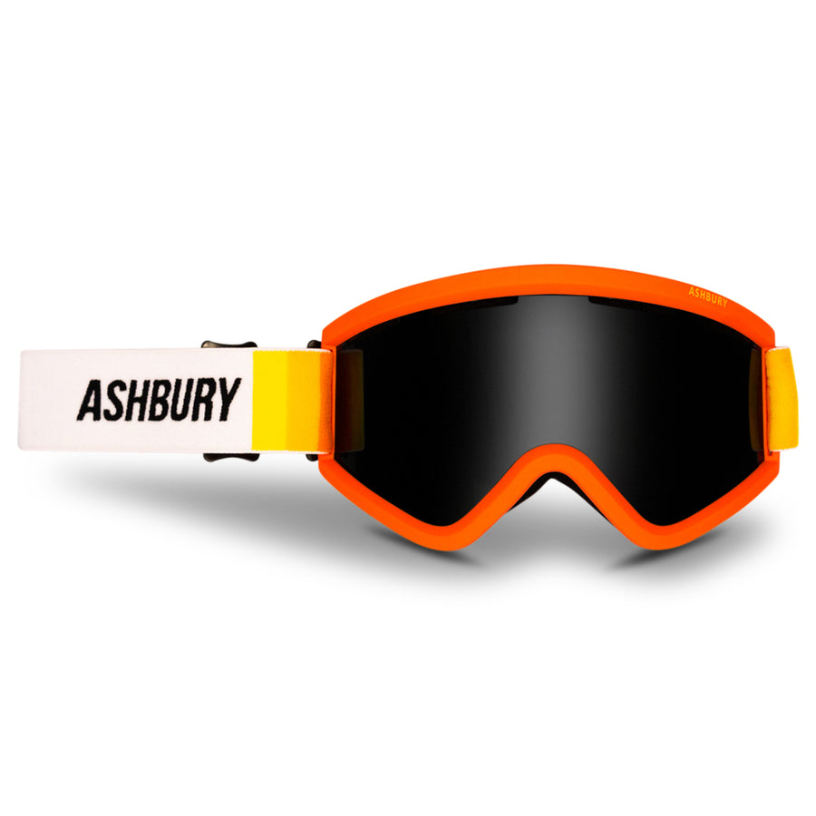 2021 Ashbury Blackbird Snow Goggle Sunrise Frame with a Dark Smoke Lens and Yellow Spare Lens