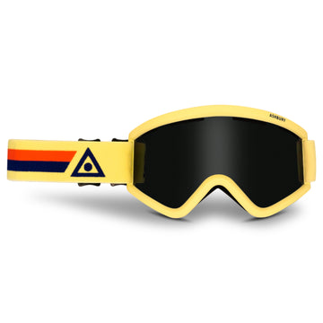 2021 Ashbury Blackbird Snow Goggle Skyline Frame with a Dark Smoke Lens and Yellow Spare Lens