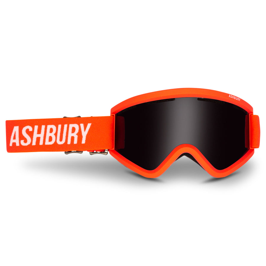2021 Ashbury Blackbird Snow Goggle Harrison Gordon Frame with a Dark Smoke Lens and Yellow Spare Lens
