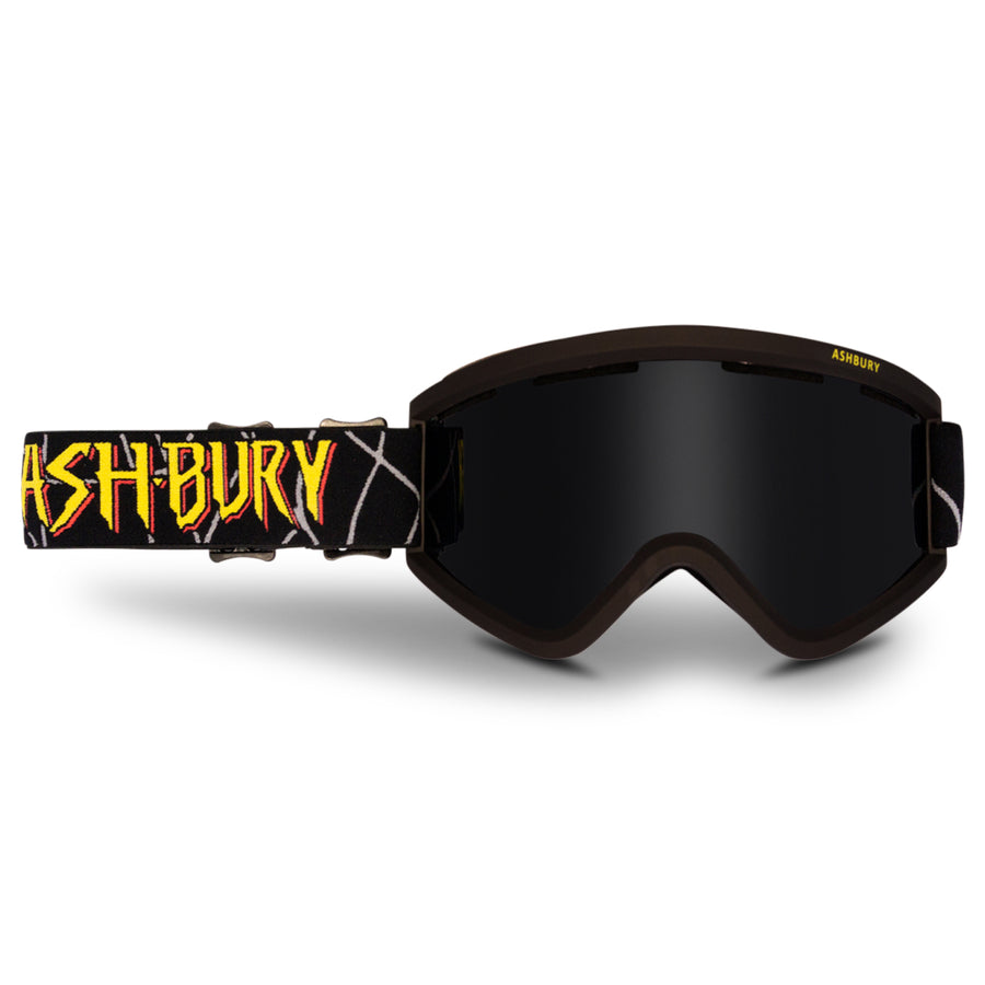 2021 Ashbury Blackbird Snow Goggle Kas Lemmens Frame with a Dark Smoke Lens and Yellow Spare Lens