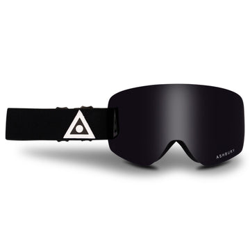 2021 Ashbury Sonic Snow Goggle Black Triangle Frame with a Dark Smoke Lens and Yellow Spare Lens