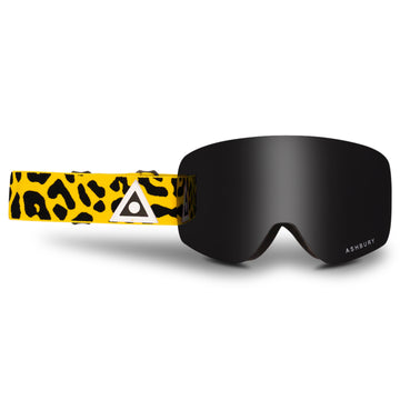 2021 Ashbury Sonic Snow Goggle Leopard Frame with a Dark Smoke Lens and Yellow Spare Lens